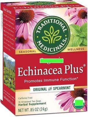 Traditional Medicinals紫錐花 加強版Echinacea Plus Tea 4盒#依規定不能標示有機