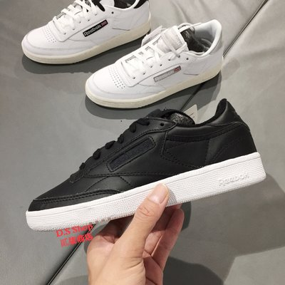 (D.S) Reebok Club C 85 女款 黑色 黑白 復古 休閒鞋 金知元 經典 AR2018