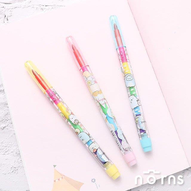 【角落生物彩虹筆】Norns SAN-X正版授權 角落小夥伴 文具用品 蠟筆 彩色筆 免削色筆 畫畫彩色鉛筆