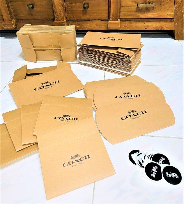 名品特搜站~賣場1 Coach包材(紙盒/袋/襯紙/貼紙)收納包包,它們是 直播主/二手店/代購者 賣好價快速賣的好夥伴
