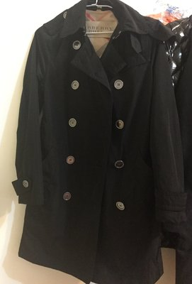 買家預訂~Burberry Brit 黑色連帽風衣 尺寸34 UK4 帽可拆 不是moncler