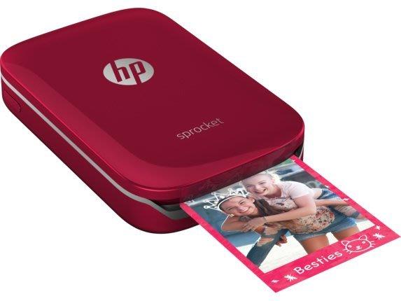 HP Sprocket 口袋相印機精裝版(紅/白)內含主機+50張相紙+保護包+2相本+包膜券 NT$4900含稅免運