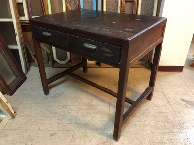 古早期古董書桌木桌