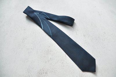 早期進口領帶 / GRACIOUS WILL灰藍復古條紋老領帶