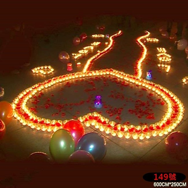 排字 蠟燭 求婚 勝利組 旗艦版 愛心 IOU 求婚蠟燭 情人節禮物 浪漫套餐 149號【塔克百貨】