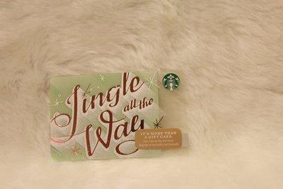 美國 2014 jingle all the way一路叮噹 星巴克 STARBUCKS 隨行卡 儲值卡 星巴克卡 收藏