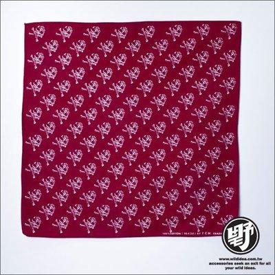 【野點子 Wild Idea】骷髏造型頭巾- 頭巾‧方巾‧手帕‧領巾