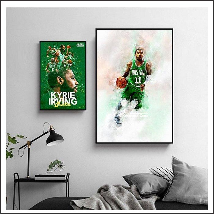 日本製畫布海報 NBA 凱里 厄文 Kyrie Irving 嵌框畫 掛畫 裝飾畫 @Movie PoP #