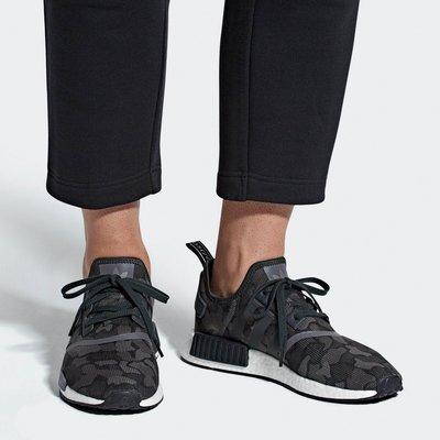 # ADIDAS NMD R1 BOOST 黑灰色 迷彩 愛迪達 類似BAPE 慢跑鞋 男鞋 D96616 YTS