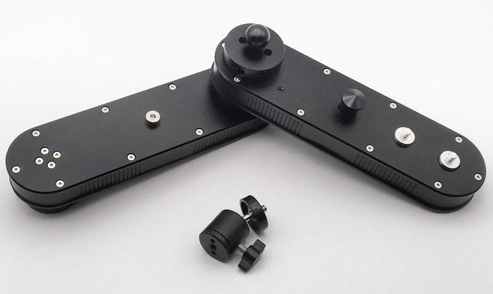 呈現攝影-四倍摺疊滑軌 18到70cm 增距/微型滑軌 摺疊 攝影軌道 水平 跟焦 線性 錄影