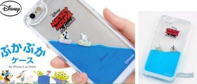 現貨 日本韓國連線迪士尼Disney液體游泳水上樂園 iPhone 6 6s 7 7s plus手機殻手機套原裝彩盒包裝