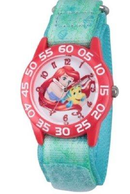 【ToyGo】*美國空運 迪士尼 小美人魚Ariel +Flounder 小比目魚 指針學習錶/石英 手錶