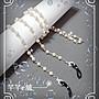 韓首爾系 簡約 時尚大方 復古洛麗塔全手工珍珠整串鏈條鏈子掛脖 防丟眼鏡鏈 太陽鏡鍊AA8 ☆ 芊芊e舖 ☆