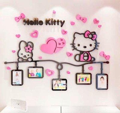 Kitty貓 3D立體壓克力壁貼 房間裝飾 室內設計 裝潢佈置