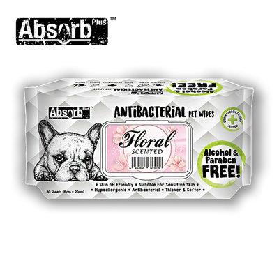 SNOW的家【訂購】Absorb Plus 寵物用抗菌濕紙巾 6種香味-花香 (11090039