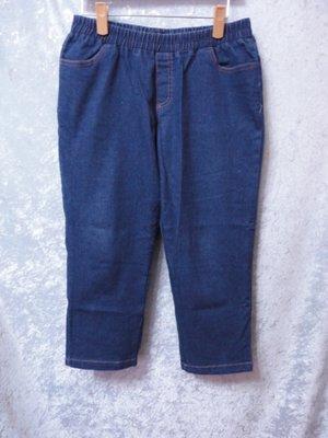 99元起標~L'LAR~簡捷俐落無印風格牛仔褲(七分褲)~SIZE:2XL(大尺碼)