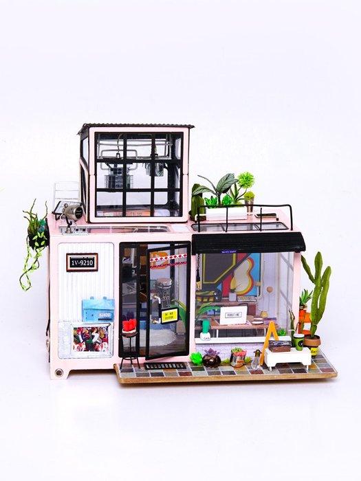 預售款-LKQJD-diy小屋小房子模型手工拼裝小房子別墅制作創意生日禮物成人