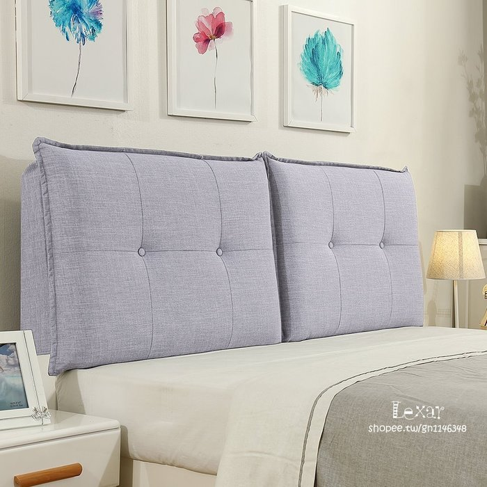 床頭靠墊榻榻米大靠背無床頭罩軟包臥室雙人布藝護腰靠枕可定制