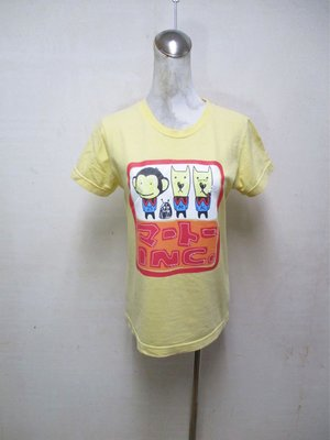 【NO.88】女-二手百貨專櫃BANANA CHIPPY俏皮圖案短袖T!不議價提前結標!標多少算多少!