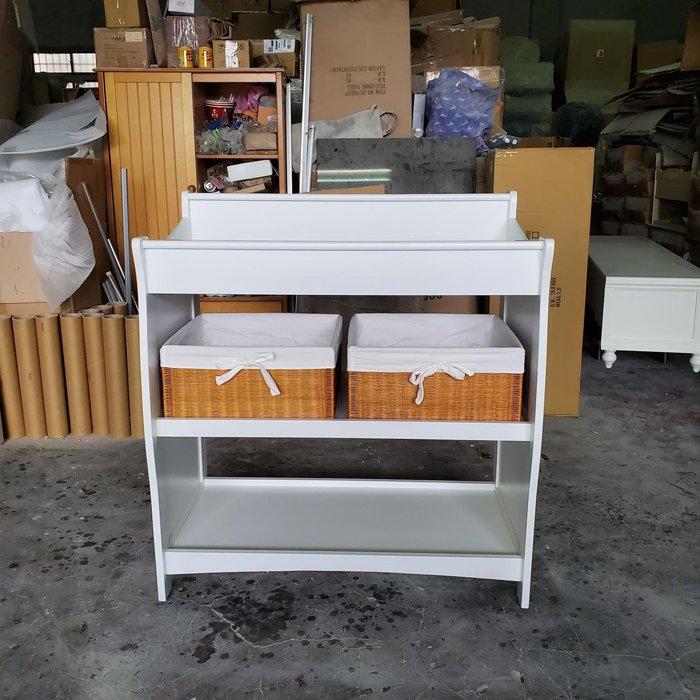 美生活館 全新鄉村風格凱莉純白色 木質 尿布櫃 兒童櫃 衣服 收納櫃 置物櫃  數量有限
