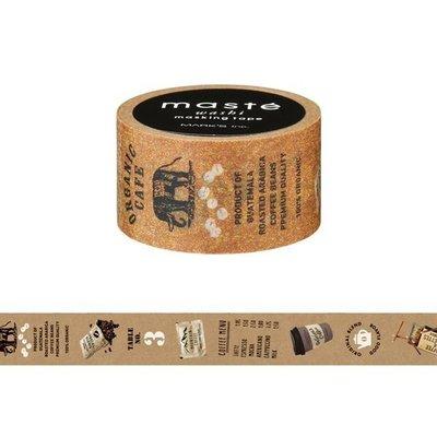 【R的雜貨舖】紙膠帶分裝 MARK'S maste和紙膠帶- カフェ 咖啡時間
