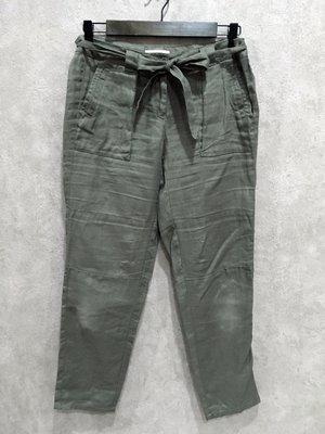 Maple麋鹿小舖 美國品牌LOFT  * 軍綠色綁帶休閒長褲* ( 現貨0號 )