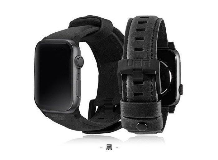 優惠〈UAG〉Apple Watch 42/44mm 皮革錶帶 棕色/黑色 經典頂級真皮皮革精準完美縫製 真皮錶帶