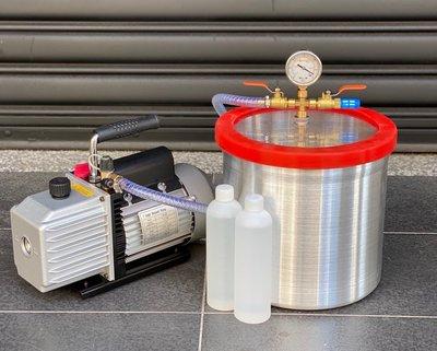 10吋型真空脫泡機( VALUE 1/2HP油式真空幫浦)--矽膠/樹脂/公仔/翻模/真空成型-各膠質類脫泡真空機