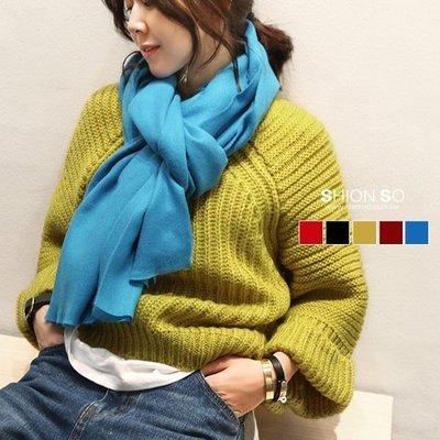 享瘦衣身中大尺碼【A4021】簡約純色造型長圍巾