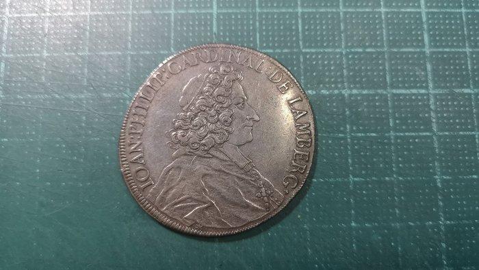 【銀元】德國帕蘇邦(Passau) 一泰勒銀元,1701年,直徑40mm,品相極美 XF, 保證真品