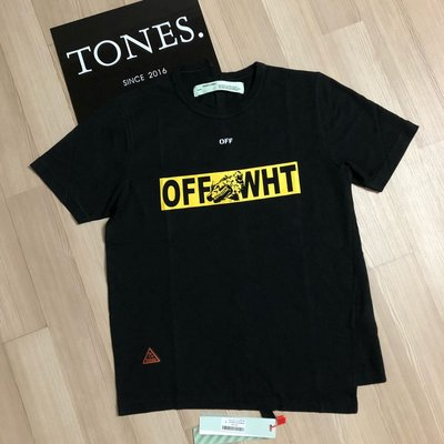 【TONES.】 OFF WHITE 18SS OFF WHT 新款黃箭頭 短TEE 最新款上架
