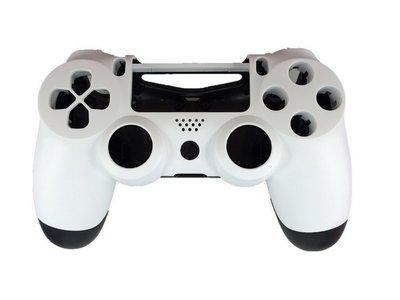PS4 無線 控制器外殼 手把外殼 把手外殼 白色外殼(副廠外殼密合度與外觀難免會有擦傷不介意再買)【台中恐龍電玩】