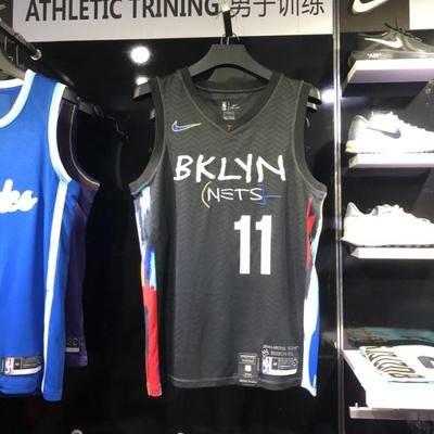 凱里·厄文(Kyrie Irving) NBA布魯克林籃網隊 塗鴉城市限定版刺繡 球衣 11號