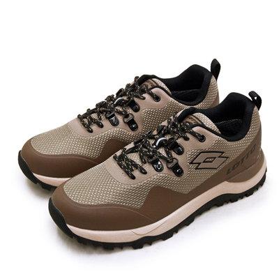 利卡夢鞋園–LOTTO 專業防水郊山戶外越野跑鞋--FALCO隼系列--咖棕黑--2551--男