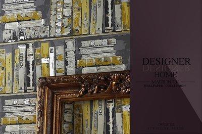 【LondonEYE】DESIGNER 英國進口期貨壁紙 EDITION 書櫃牆  英式幻視藝術/復古VINTAGE《P284》