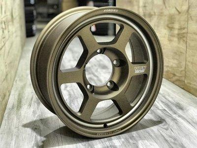 【A-651】 16吋鋁圈 5/139.7 5孔139.7 平光古銅 專用 Suzuki Jimny 6.5J ET0