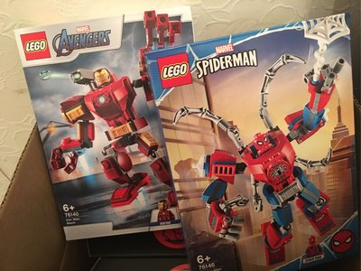 Lego 76140 76146 iron man Spiderman marvel $180 兩盒