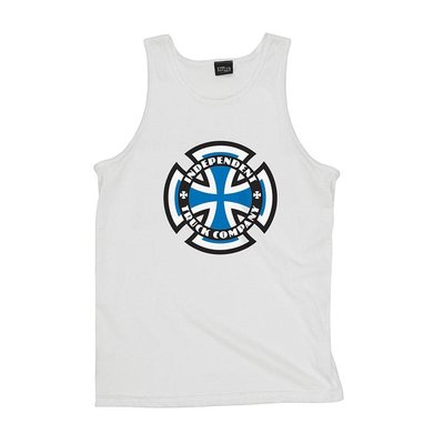 〔Bigforty〕INDEPENDENT RINGED CROSS TANK TOP WHITE 背心