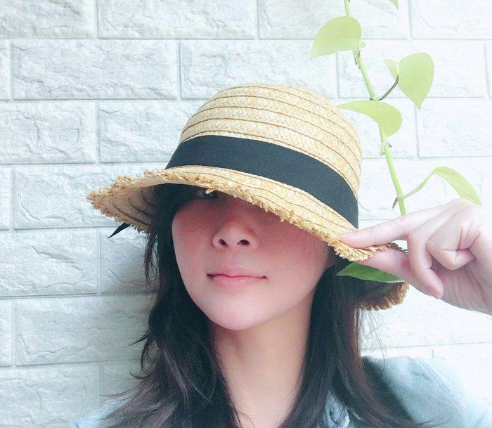毛邊拉拉草帽/遮陽帽