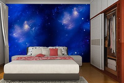 客製化壁貼 店面保障 編號F-651 宇宙星空 壁紙 牆貼 牆紙 壁畫 背景牆 星瑞 shing ruei