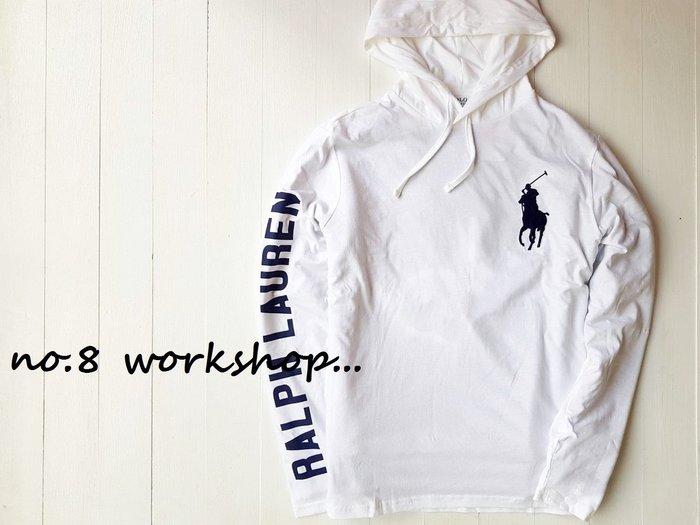 T☆【RL男生館】☆【POLO Ralph Lauren大馬刺繡連帽T恤】☆【RL001R2】(S-M-L)2/18到貨