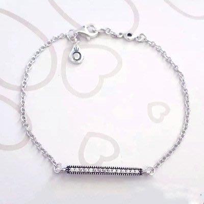 凱莉代購 Pandora 潘朵拉 S925純銀 一字型簡約鑲鑽手鍊 附提袋 包裝盒 原單商品 預購