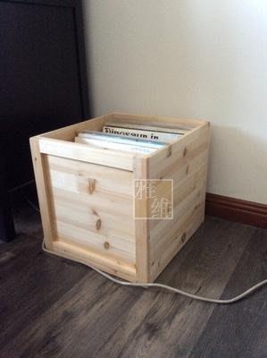 實木大容量黑膠唱片收藏組合木箱家用分隔LP收納筐訂做收納箱儲物箱