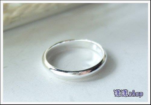 *。漾漾小舖*。4-16號中性款質感拋光極好圓弧戒指.925純銀【G103】☆防過敏.可郵局無折