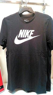 小阿姨shop NIKE TEE-FUTURA ICON 短T 黑 白LOGO SWOOSH  696708-015