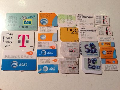 【北大iPhone】iPhone 啟動卡/激活卡/SIM卡 日本SB/AU/DOCOMO 美國AT&T/Sprint/V