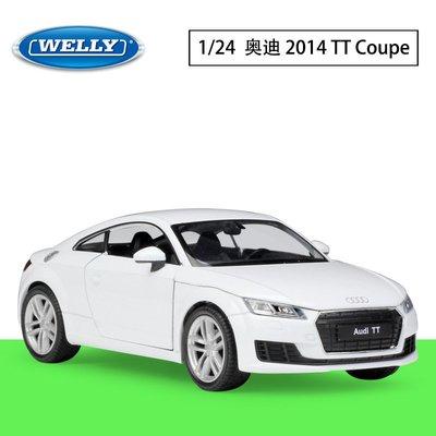 WELLY威利1:24奧迪 2014 Audi TT Coupe仿真合金汽車模型收藏擺件