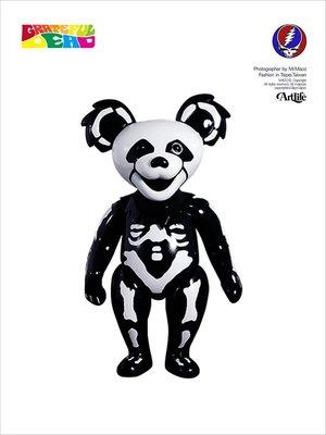 Artlife @ GRATEFUL BEAR BLACK SKULL 黑白色 骷髏熊 日本塘膠公仔