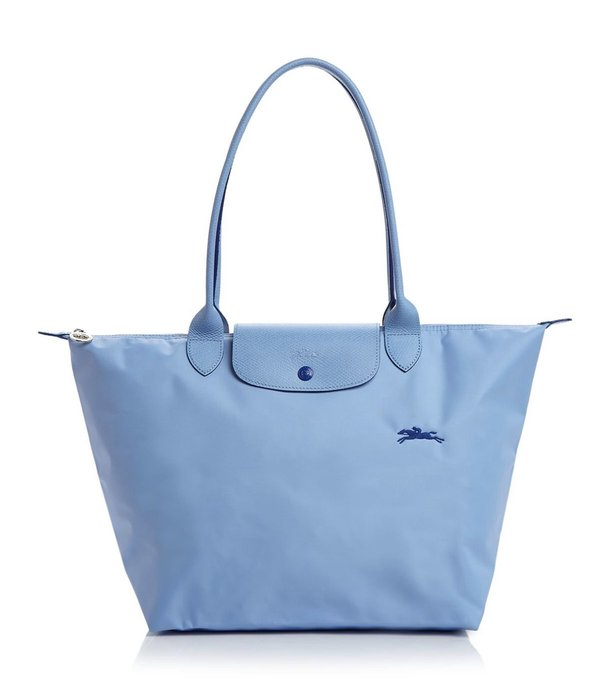 Coco小舖 Longchamp Le Pliage Club Large Shoulder Tote 大款水藍色