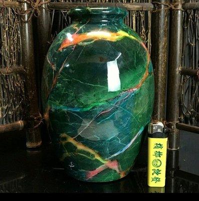 台灣花蓮七彩玉 聚寶瓶